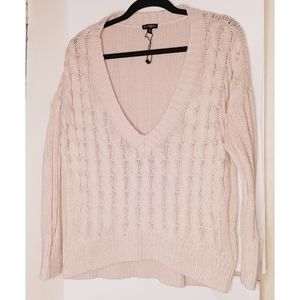 Express Cable Knit Sweater  Peach Size SP NWT